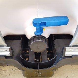IBC Container WEISS (UV SCHUTZ) 1000 Liter für Trinkwasser und Lebensmittel auf Holz-Kunststoff-Palette #65HVP-REGEN-USER
