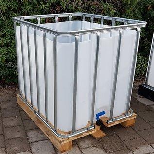 Werit IBC Offener Wassertank NEU 800 Liter / 820 Liter für Trinkwasser (lebensmittelecht) auf Holzpalette #683H-O-W-NEU-REGEN-USER