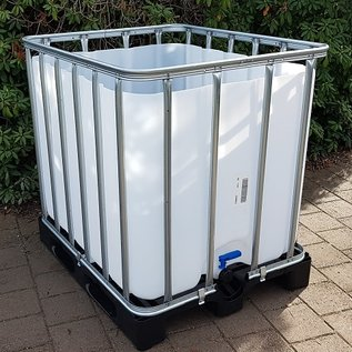 Werit IBC IBC Wassertank offen NEU 800 Liter / 820 Liter für Trinkwasser (lebensmittelecht) auf Kunststoff-Palette #683VP-O-W-NEU-REGEN-USER