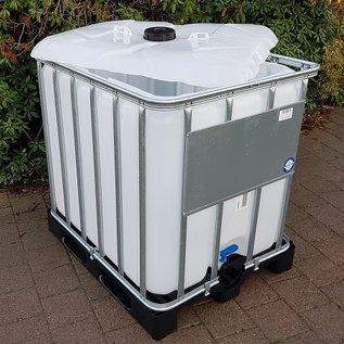 Werit IBC IBC Container für Schüttgut NEU 800 Liter / 820 Liter (lebensmittelecht) auf Kunststoff-Palette #683VP-OD-W-NEU-REGEN-USER