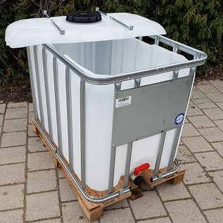 Werit IBC IBC Container für Futter 800 Liter / 820 Liter NEU (lebensmittelecht) auf Holzpalette #981H-OD-W-NEU-REGEN-USER
