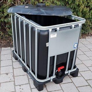 Werit IBC IBC Container für Schüttgut NEU SCHWARZ UV-SCHUTZ 600 Liter /640 Liter (lebensmittelecht) auf Kunststoff-Palette #94VP-OD-W-NEU-REGEN-USER