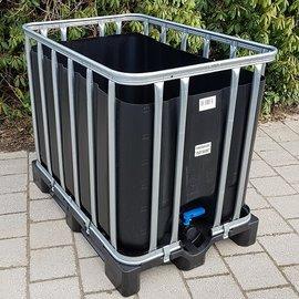 Werit IBC IBC Trinkwasser-Becken 600l / 640l NEU SCHWARZ auf Kunststoffp.