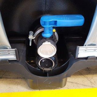 HESS DESIGN IBC Wassertank offen NEU SCHWARZ mit UV-SCHUTZ 600 Liter / 640 Liter für Trinkwasser (lebensmittelecht) auf Kunststoff-Palette #94VP-O-W-NEU