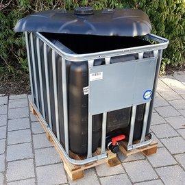 Werit IBC IBC Container für Futter 600l / 640l NEU SCHWARZ auf Holz-P