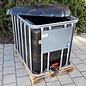 Werit IBC IBC Container für Futter 600 Liter / 640 Liter NEU SCHWARZ mit UV-SCHUTZ (lebensmittelecht) auf Holzpalette #94H-OD-W-NEU-REGEN-USER