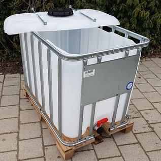 Werit IBC IBC für Futter 600 Liter / 640 Liter NEU (lebensmittelecht) auf Holzpalette #9H-OD-W-NEU-REGEN-USER