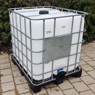 IBC Container 1000 Liter NEU (neue Blase) auf Kunststoff-Palette für Lebensmittel #I6VP-REGEN-USER