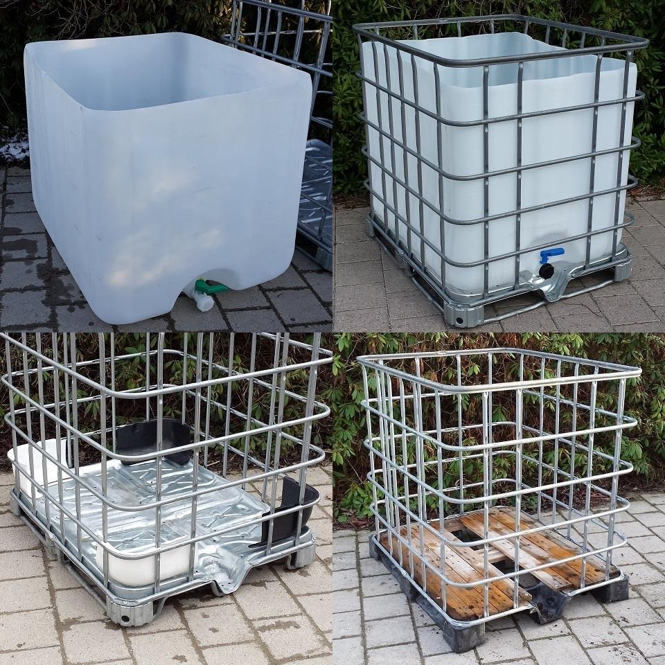 Top Regentonne und Wasserbehälter 1000 Liter mit IBC Container von #ML_43