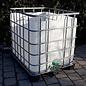 Schütz IBC Regenwasser-Auffangbehälter 1000 Liter exFood auf Metall-Kunststoff-Palette #2OMVP-exFood-REGEN-USER