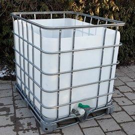 Schütz IBC Dachwassersammler 1000l offen exFood auf Metall-P.