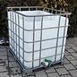 HESS DESIGN Direkter Dachwassersammler 1000 Liter offen exFoodauf Metallpalette #2OM-exFood-REGEN-USER