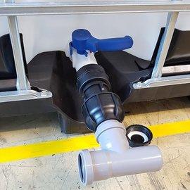 IBC Adapter für HT-Rohr mit T-Stück 50 mm