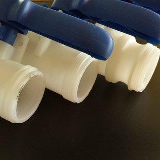 IBC Adapter mit KLEMMVERBINDUNG für 50 mm HT-Rohr mit Bogen #F-HT1402-REGEN-USER