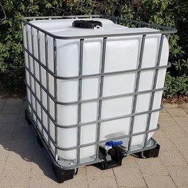 IBC Wassertank 1000L mit 'GROSSEM DECKEL' auf M / MPE