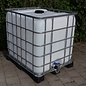 "Regenwassertank 1000-Liter ""natur"" auf Metall-Kunststoff-Pal. #2MVP-sauber-REGEN-USER"