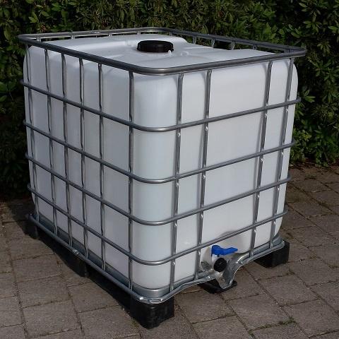 Ganz und zu Extrem Regenwassertank 1000-Liter auf Metall-Kunststoff-Palette - REGEN @UT_93