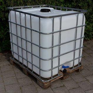 IBC Tank, Regenwassertonne 1000 Liter auf Holzpalette #2H-sauber-REGEN-USER