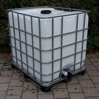 IBC Dachwassersammler 1000L auf verzinkter Metallpalette #2M-sauber-REGEN-USER