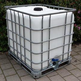 Dachwassersammler WEISS 1000l auf Metall- PE