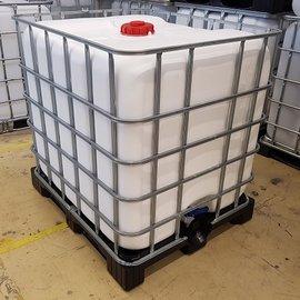NCG-Mauser IBC Regenwassertank WEISS 1000l auf Kunststoff-Palette