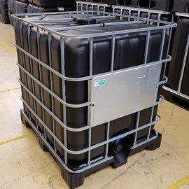 IBC Container 1000l rebottled Lebensmittel SCHWARZ auf Kunststoffp.
