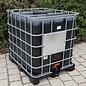 IBC Container für Lebensmittel mit UV Schutz 1000 Liter NEU (neue SCHWARZER Blase) auf Kunststoff- Palette #I64VP-REGEN-USER