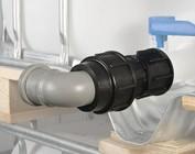 Auslaufadapter für Rohre
