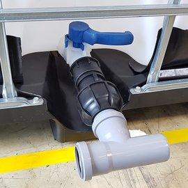 IBC 2'' Adapter mit HT-Rohr 50 mm T-Stück