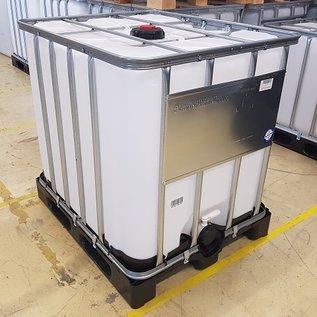 Werit IBC IBC Container für Gefahrgut 1000 Liter mit 3-Zoll NEU auf Kunststoff-Palette #6VP-UN-W3-NEU-REGEN-USER