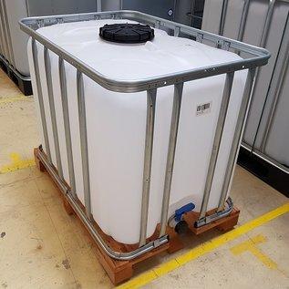 IBC Trinkwasser Tank 600 Liter - 640 Liter NEU (mit neuer Blase) lebensmittelecht auf Holzpalette #9H-TOP-W16-REGEN-USER