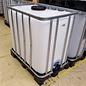 Werit IBC Trinkwassertank IBC 800 Liter NEU (mit neuer Blase) auf Kunststoff-Palette lebensmittelecht #981VP-W16-TOP-REGEN-USER