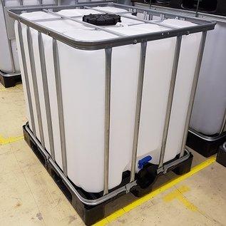 Werit IBC Regenwassertank 1000 Liter mit 225'er Deckel auf Kunststoff-Palette #2VP16W-DTOP-sauber-REGEN-USER