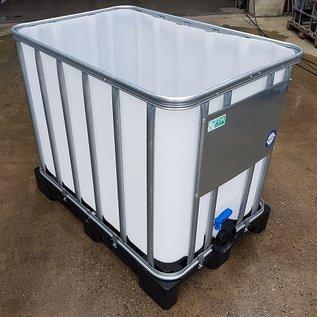 Werit IBC IBC Wasserbehälter offen NEU 600 Liter plus 120 Liter für Trinkwasser geeignet auf Kunststoff-Palette #97VP-O-W-NEU-REGEN-USER