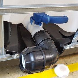 IBC 2'' Adapter für 50 mm Rohr mit Bogen