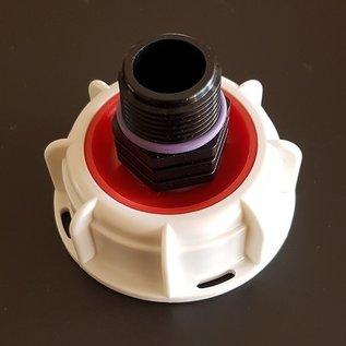 IBC FEINGEWINDE 58 mm mit Überwurfmutter auf 3/4 Zoll Aussengewinde #FOS1300-REGEN-USER