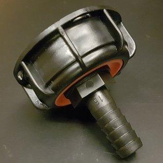 IBC S60 X 6 2'' Anschluss mit Überwurfmutter und Tülle für 5/8-Zoll Schlauch #POS16-S-REGEN-USER