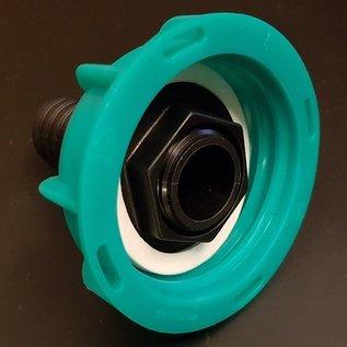 IBC S60X6 Anschluss mit Überwurfmutter für 25 mm 1-Zoll Schlauch #POS25-S-REGEN-USER
