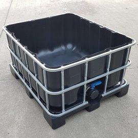 Greif IBC Wassertank-Verschnitt 500l schwarz offen auf Kunststoff