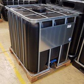 Werit IBC Rebottled IBC Container 1000l Food auf Holz-Palette