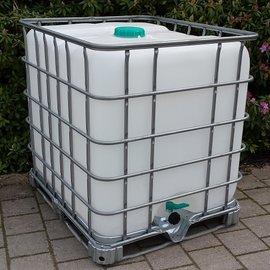 Schütz IBC Dachwassersammler 1000L exFood auf Stahlpalette