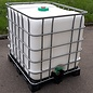 Schütz IBC REGEN-USER-TONNE 1000 Liter WEISS exFood auf Kunststoff-Komposite mit Algenschutz #5VVP-exFood-REGEN-USER