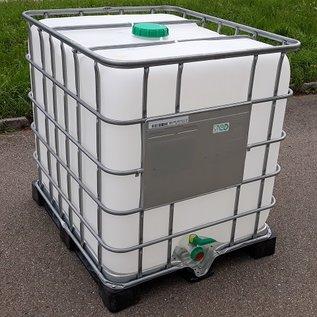Schütz IBC IBC Container 1000 Liter ExFood auf Metall-Kunststoff-Palette #I2MVP-ExFood-REGEN-USER