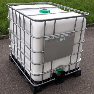 Schütz IBC Schütz IBC 1000 Liter WEISS FDA auf Kunststoff-Komposite mit UV-Schutz #I5VVP-exFood-REGEN-USER