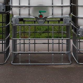 Schütz IBC IBC Schütz Gitter breit (100 cm) gebraucht, 66 cm höher stellen #1Schütz-66-REGEN-USER