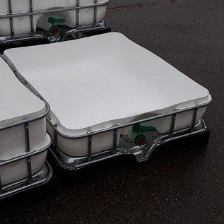 Schütz IBC Regenwassertonne eckig gut 200 Liter exFood offen auf verzinkter Stahl-Kunststoff-Palette #5OMVP200-exFood-REGEN-USER