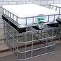 Schütz IBC Hochbeet eckig 220 Liter exFood auf verzinkter Stahl-Kunststoff-Palette 66 cm erhöht #5HB-MVP220&66-exFood-REGEN-USER