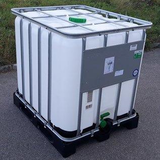 Werit IBC IBC Container Regenwassertank Werit 1000 Liter exFood auf Kunststoff-Palette #2VP16W-exFood-REGEN-USER
