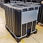 Werit IBC IBC Container für Lebensmittel mit UV Schutz 1000 Liter NEU (neue SCHWARZER Blase) auf Kunststoff-Palette #I64VPW-REGEN-USER