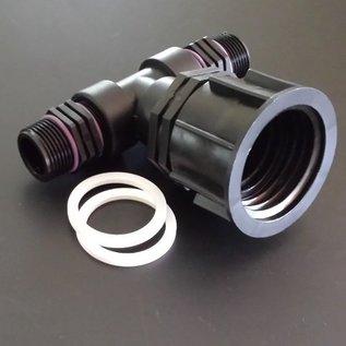 IBC Wassertank Auslaufstutzen S60X6 / 2'' GROBGEWINDE mit 2-fachem 1-Zoll Aussengewinde Anschluss #P25BI(#27)-REGEN-USER